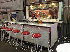 1923 Original Coca Cola Soda Fountain Back BAR Diner Complete Set Tiffany Glass