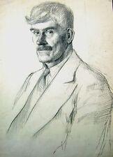 Derek Fowler Retrato De Un Caballero que se enfrentan a izquierda pencil1940