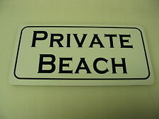 Vintage Style PRIVATE BEACH Metal Tin Sign NEW 4 Sand Trap or Golf Club Bunker