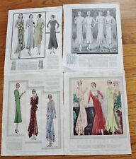 McCalls ad for Patterns,clothing ad-Feb 1930-7 pages of patterns-L'Echo De Paris