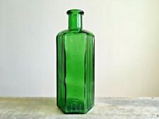 More details for vintage green embossed not to be taken glass bottle farmhouse barn salvage