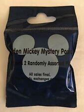 Disney Pins Two Mystery Pack Blue For Cast Members Hidden Mickey Set