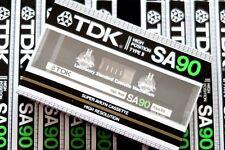 TDK SA90 SUPER AVILYN HIGH BIAS TYPE II BLANK AUDIO CASSETTE - JAPAN 1983