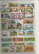 Pferde Pferdekutschen Reiter Briefmarken Stamps Timbres Sellos