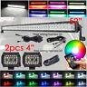 "5D RGB 52"" LED Work Light Bar Combo +4"" RGB Halo Pods & Free Wiring Harness Kits"