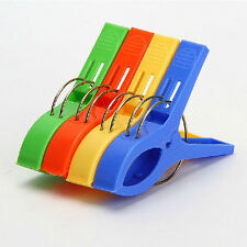 4Pcs Utility Strong Windproof Beach Towel Large Clip Plastic Pegs Lounger Sunbed