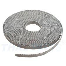 10m Gurtband 10mm Breit ca. 1,6mm stark - Silbergrau Polypropylen Taschengurt