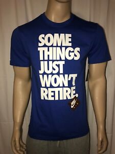 Nike Some Things Won't Retire Blue T-shirt Tee Size S or M