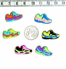 Novelty Buttons Fun Run Shoes Joggers  Embellishment Scrapbook Quilting #439