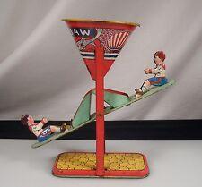 Vintage J. Chein Tin Litho Sand Toy See Saw