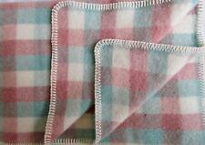 Manta de lana Cuadros Colcha Cubierta SOFA tamaño especial,135x220cm,100% merina