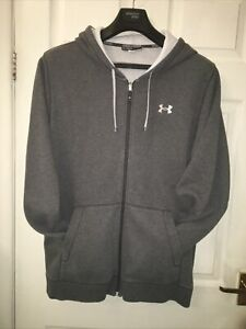 """Mens Grey Zipped Hooded Sweat Top By""""UNDER ARMOUR""""size XL"""