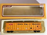LIFE-LIKE 8990 HO SCALE 50' THRALL DOOR BOX CAR GBW 54 Green Bay