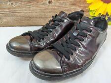 Prada Men's Metal Cap Toe Shoes Sneakers Oxblood Red Nero Prada Size US 9 Rare