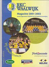 RKC Waalwijk Presentatiegids Magazine 2001-2002