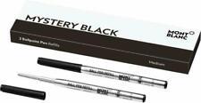 MONTBLANC KUGELSCHREIBERMINEN - 2 Stk. M - MYSTERY BLACK - Article 116190