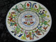 Placa coleccionable Wedgwood China calendario Robin aves de jardín 1976