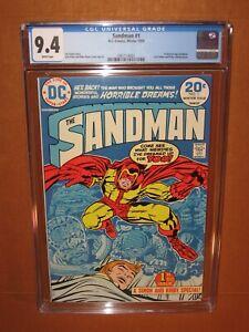 Sandman 1 CGC 9.4 WHITE pgs 1974 1st Bronze age Sandman Jack Kirby 12pix INSURED