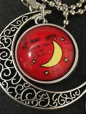 "BIN Celestial Love You to the Moon Charm Tibetan Silver with 18"" Necklace CM17"