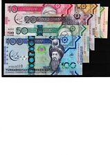 TURKMENISTAN SET 1 5 10 20 50 100 MANAT 2017  UNC & 124