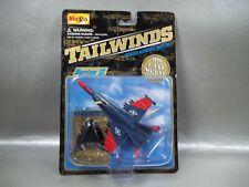 NIB 1999 MAISTO TAILWINDS F-18C HORNET RED/BLUE FIGHTER JET DIE CAST BOX W/WEAR