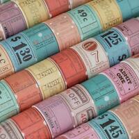 Vintage Bill Can Be Torn Series Tape Masking Paper Sticker Scrapbook Decor