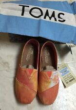 Toms Youth 4.5 classic orange and yellow Tie Dye