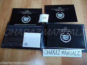 2003 Cadillac Seville Owner Owners Owner's Manual w/ Case