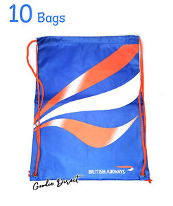 10x British Airways DrawString bags with Colouring book & Crayons for Kids, New