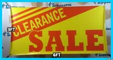 CLEARANCE SALE  3' x 6' Banner Sign NEW Largest Size Highest Quality 3 ft x 6 ft