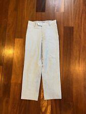 Polo Ralph Lauren Boy Seersucker Pinstripe Easter Dress Pants White Blue Size 8