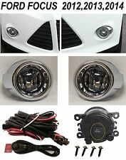 NEW FOG LIGHT KIT DRIVING LAMPS FOR 2012 - 2014 FORD FOCUS BEZELS 3M HARNESS