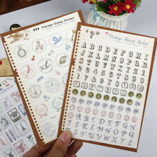6pcs Retro Stamp Stationery Stickers for Diary Scrapbooking Decoration Supplies