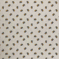 Watercolour Miniature Bees - Digital Print Linen - Available in a range of sizes