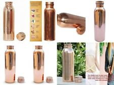 Set of 5 Traditional Pure Copper Water Bottle Leak Proof Yoga Health Benefits
