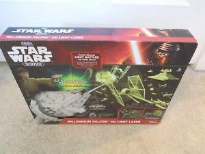Uncle Milton Star Wars Science Millennium Falcon UV Light Laser--FREE SHIPPING!