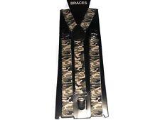 Easy Attached Desert Green Camouflage Design Adjustable Braces 015
