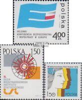 Polen 2391,2396,2397 (kompl.Ausg.) postfrisch 1975 Sicherheit, Statistik, Frauen
