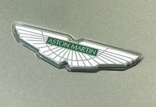 Aston Martin Bonnet/Boot Badge in White/Green