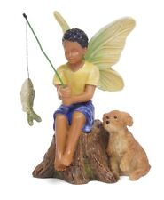 Catching Dinner Fairy, Ethnic Fairy, African American Fairy, Ebony Fairy