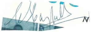 NHL President Clarence Campbell Cut Autograph