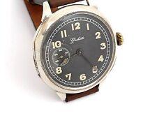 Saxonia System Glashütte,Militär Style,Silber,Armabnduhr,Wrist Watch,HAU,RaRe!