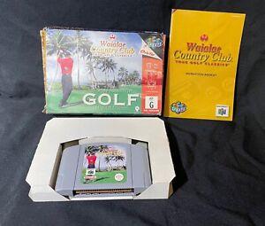Golf In Paradise N64 Nintendo Sports Pal Waialae Country  Club Game Box Manual