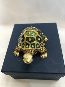 Oriental Treasures Turtle Trinket Box