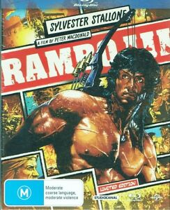 RAMBO III 3 Starring Sylvester Stallone BLU-RAY Disc NEW & SEALED Free Post