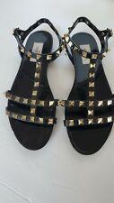 Valentino Garavani Rockstud Jelly Flat Gladiator Sandals Size 37