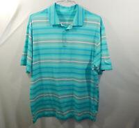 Nike Golf Dri Fit Short Sleeve Polo Shirt Green Blue Size LARGE L Mens Clothing