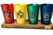 Wizarding World of Harry Potter House Tumbler Cup Set 4 Cups by Universal Studio