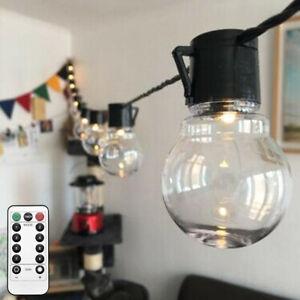 Electric 20LED Crystal Ball Fairy String Lights Xmas Bulb Garden Outdoor Indoor