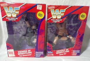 WWF The Undertaker Sycho Sid Heroes Of Wrestling Vintage Figurines New NIP Rare